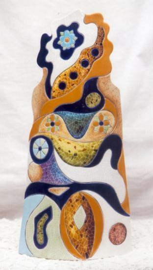 Teja decorada 'Gaudí'