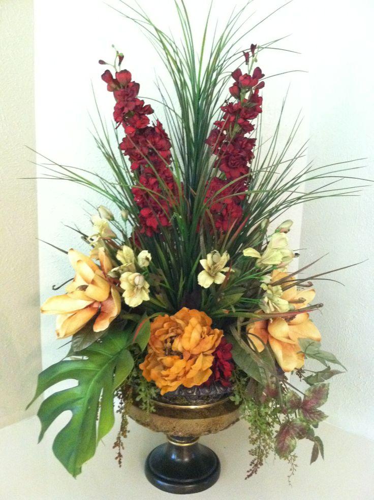 Foyer Table Floral Arrangements : Gorgeous statement piece foyer table silk floral