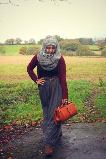 maxi skirt + cardigan