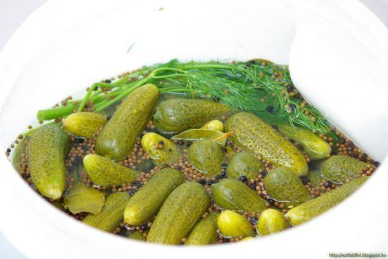 Csemege uborka télire eltéve – hordós csemege uborka