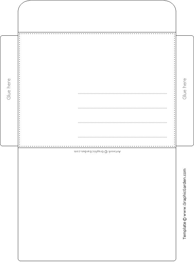 1728 best Papel de Carta images on Pinterest Writing papers - letter envelope template