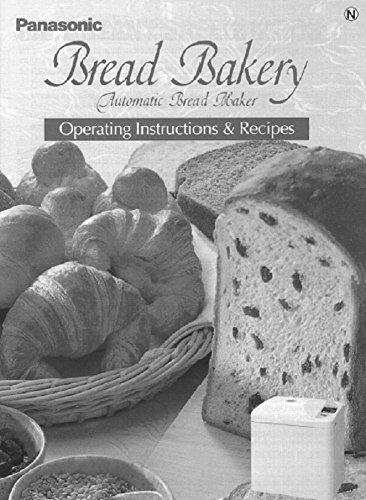 Panasonic Bread Machine Maker Instruction Manual