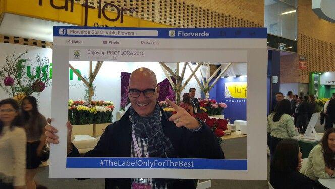 Famous #FloralDesigner @pieterlandman took his selfie to join our Florverde reporter contest on Facebook.com/florverdeorg @florintdotorg