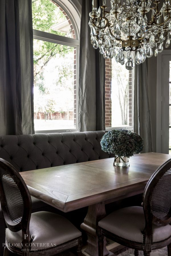 Project Reveal: A Glamorous Before and After | La Dolce Vita Love this table from Ballard Designs