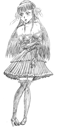 17 meilleures id es propos de comment dessiner une fille - Dessin gothique ...