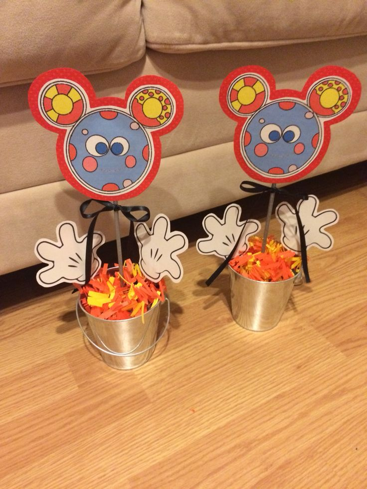Oh Toodles! Mickey Mouse Birthday Center Piece