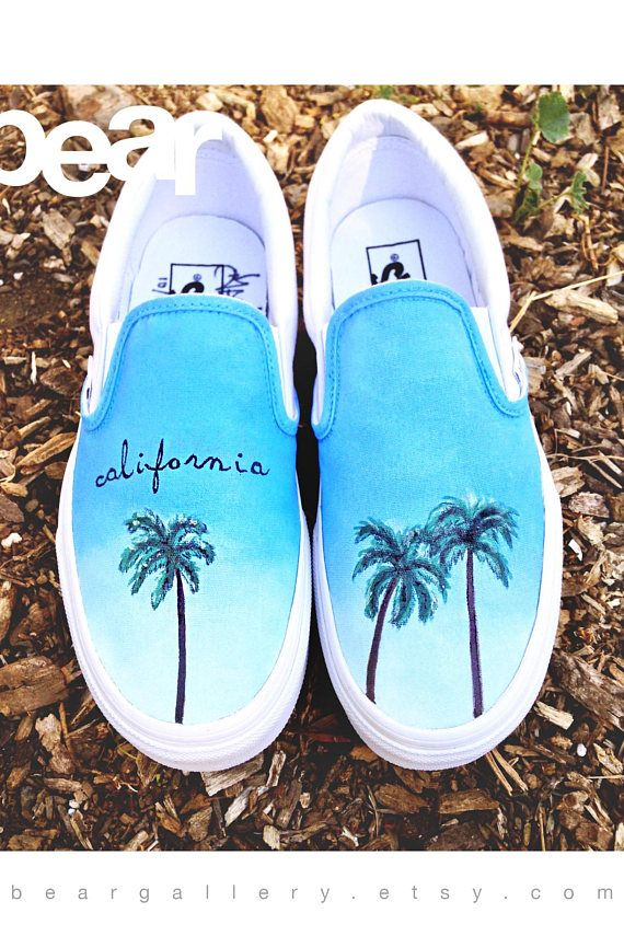 Custom Painted Palm Tree Vans Shoes Hand Painted Palm