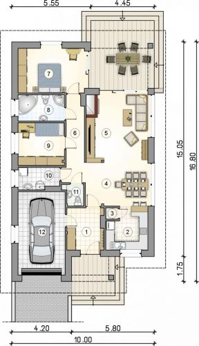 The 46 best garduri images on pinterest decks fence and balcony proiect casa mica cu terasa acoperita plan parter casa cu 2 camere sursa http malvernweather Image collections