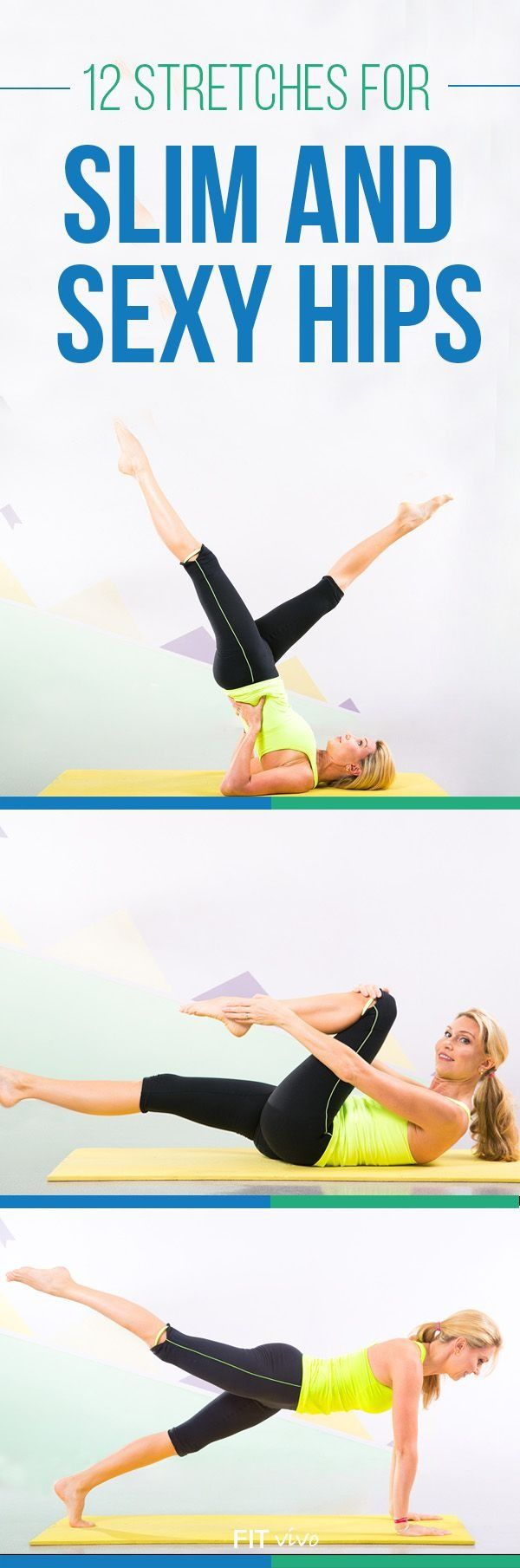 Work out routines. Want a good hip workout ? Here are 12 stretches and workouts for flexibility and strengthening of the hips. These exercises help loosen tight hip flexors and finally get those slim and sexy hips. Perfect for men and women. Also great for runners to recover after injury or strain.   Health.com