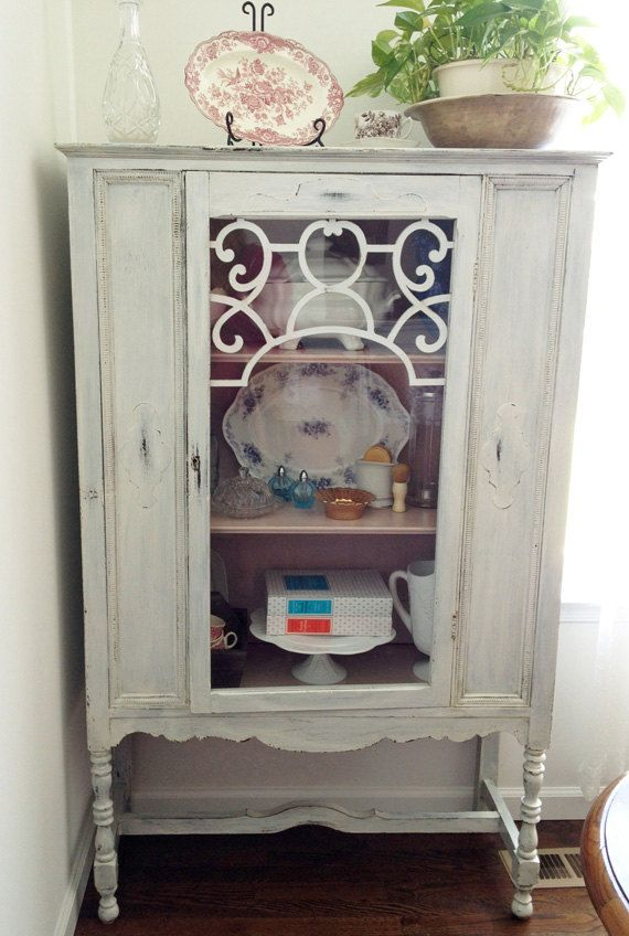 Chippy Antique China Cabinet