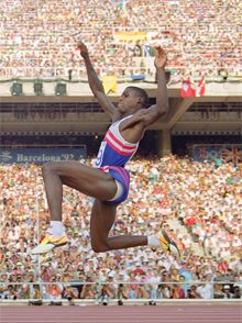 Bob Beamon's Long Olympic Shadow - Interactive Graphic - a look at Olympic long-jumping from 1896 to present.