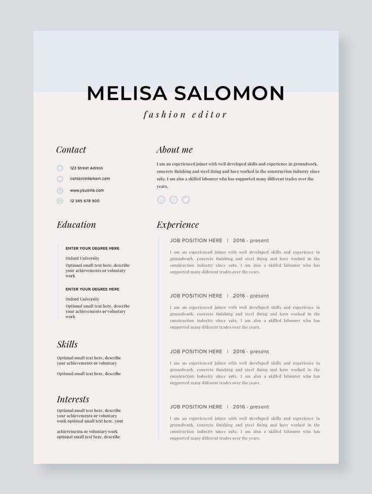 Stand out with this Resume Template | Resume | CV Template ...