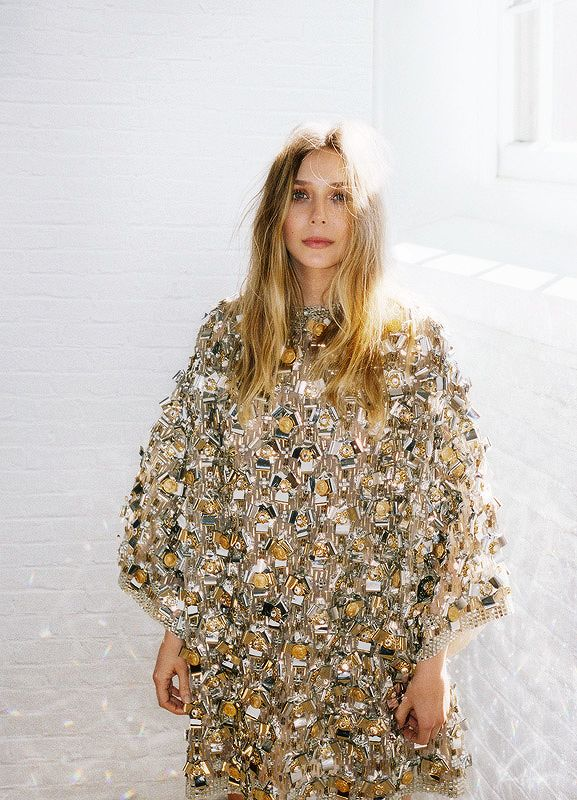 A glittery new years eve look via Elizabeth Olsen