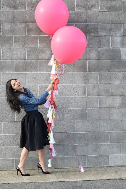 Sincerely Staja - 27th Birthday -Louboutin - Chicwish - Giant balloon