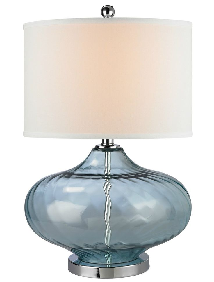 Cant Miss With This Beautiful Deep Sea Blue Glass Table Lamp Made From