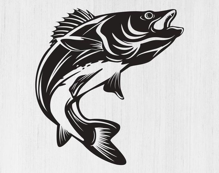 Walleye svg Walleye png Walleye fishing svg Fishing logo ... (736 x 583 Pixel)