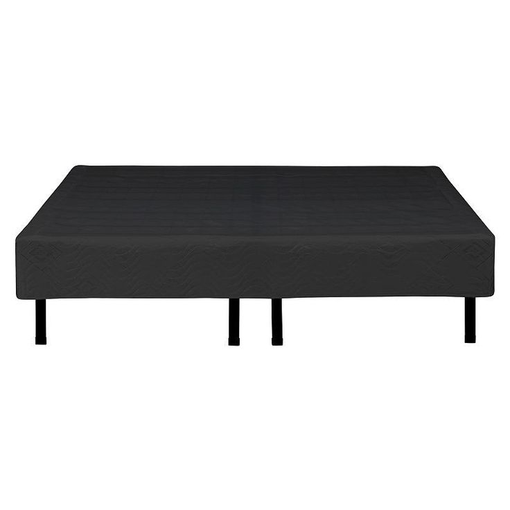 eco sense metal platform bed frame cover black