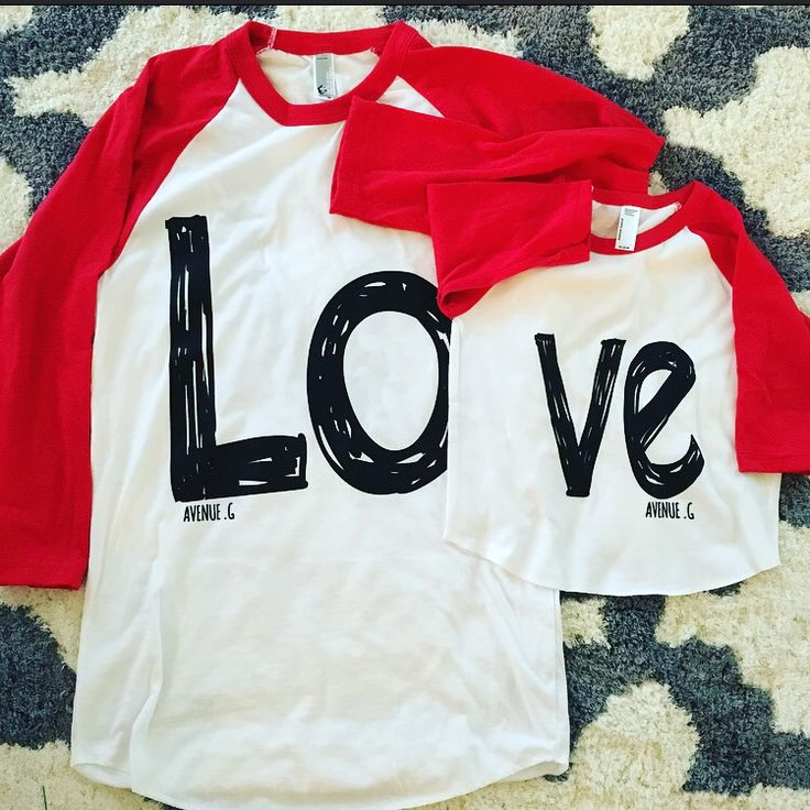 Matching shirts for mom and baby