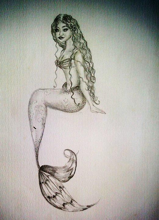 hawaiian mermaid drawing  kammy hodges