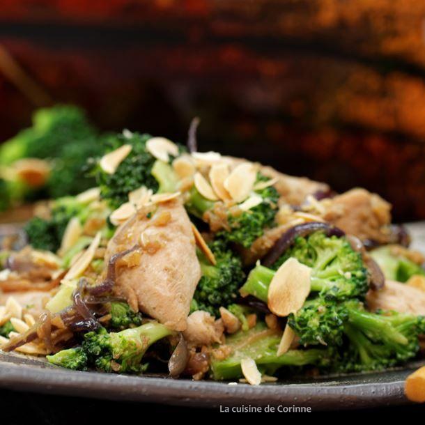 Wok de poulet aux brocolis