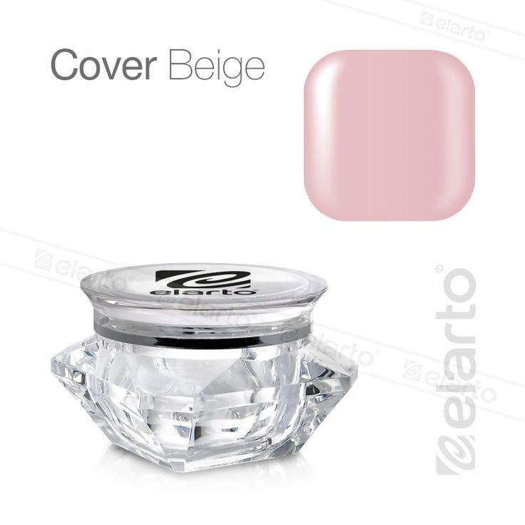 Żel średniogęsty beżowy kamuflaż Cover Beige 30g #elarto #cover #beige