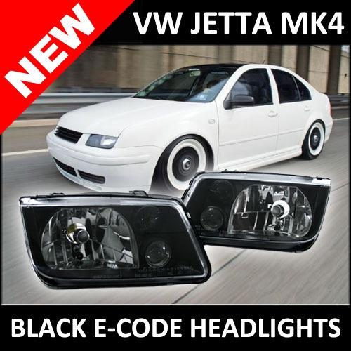 99 05 Vw Jetta Bora Mk4 Depo Black E Code Headlights W