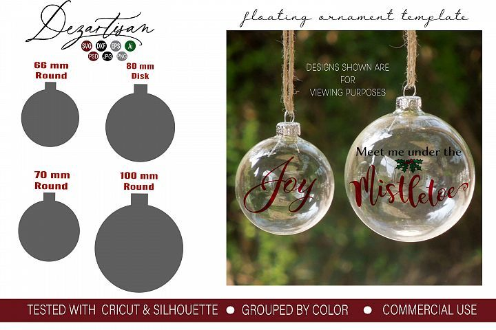 Download Floating Ornament Template Inserts Svg Dxf And Psd Format Today We Have A Huge Range Floating Ornaments Ornament Template Christmas Ornament Template