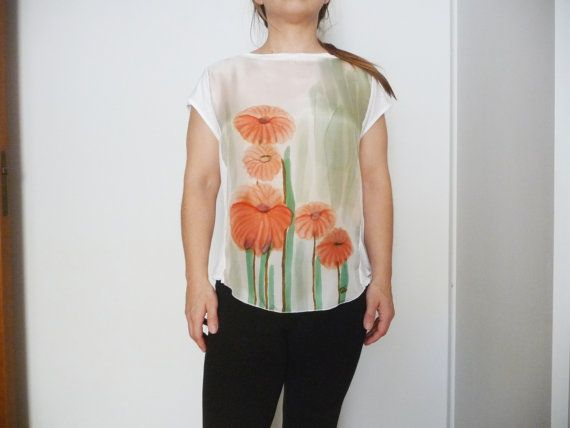 Special Floral Blouse Top Spring/Summer by ArtTetisCollections, $65.00