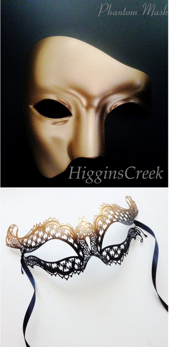 Womens rose pink mask mens mask couples mask set mens black metal phantom mask couples mask pair his and hers masks for couples
