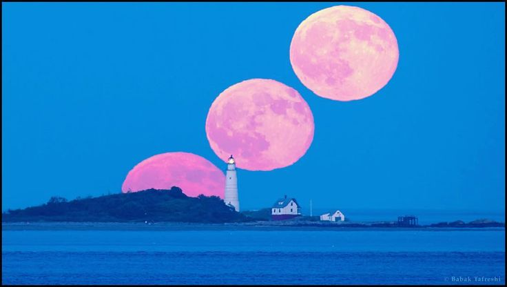 This well-planned telephoto timelapse captures July's Full Moon rise across outer Boston Harbor Massachusetts planet Earth. In the foreground the historic terrestrial beacon is known as Boston Light. July's Full Moon is known to some as a Thunder Moon likely a reference to the sounds of the northern summer month's typically stormy weather. But the eastern sky was clear for this video sequence. Near the horizon the long sight-line through atmospheric layers filters and refracts the moonlight…