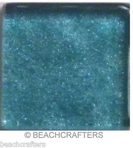 20 - 3/4 inch Paradise Blue Metallic Glass Mosaic Tiles
