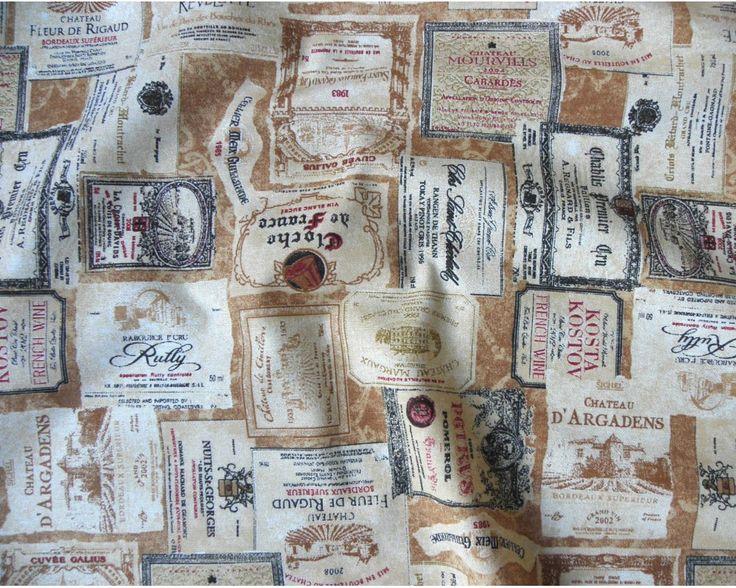 lakástextil, bútorvászon, borcímke mintával| Textilpont Lakástextil Webáruház