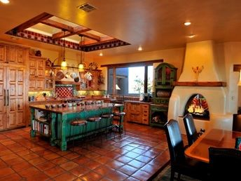 """Gorgeous Southwestern Styled Kitchen! Click on the image for more information on """"Southwestern Kitchen Style"""" by Kitchen Bath Trends"""