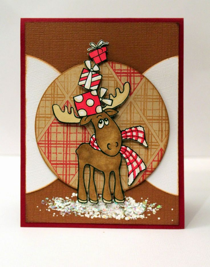 paper, ink and smiles: Christmas Moose... Stampendous: P238 PenPattern Moose, SSC1211 Yule Diamonds Perfectly Clear™ Stamps, EJS02  Spoonful of Snow MEM01 Memento™ Tuxedo Black Ink by Tsukineko®