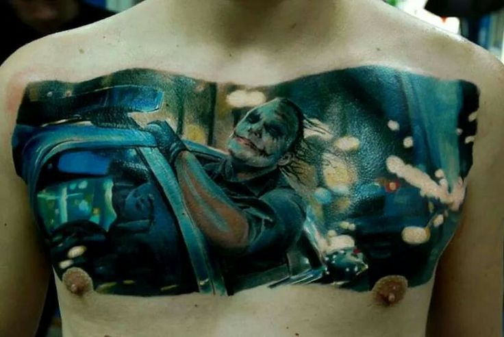this might possibly be the sickest chest tattoo ever