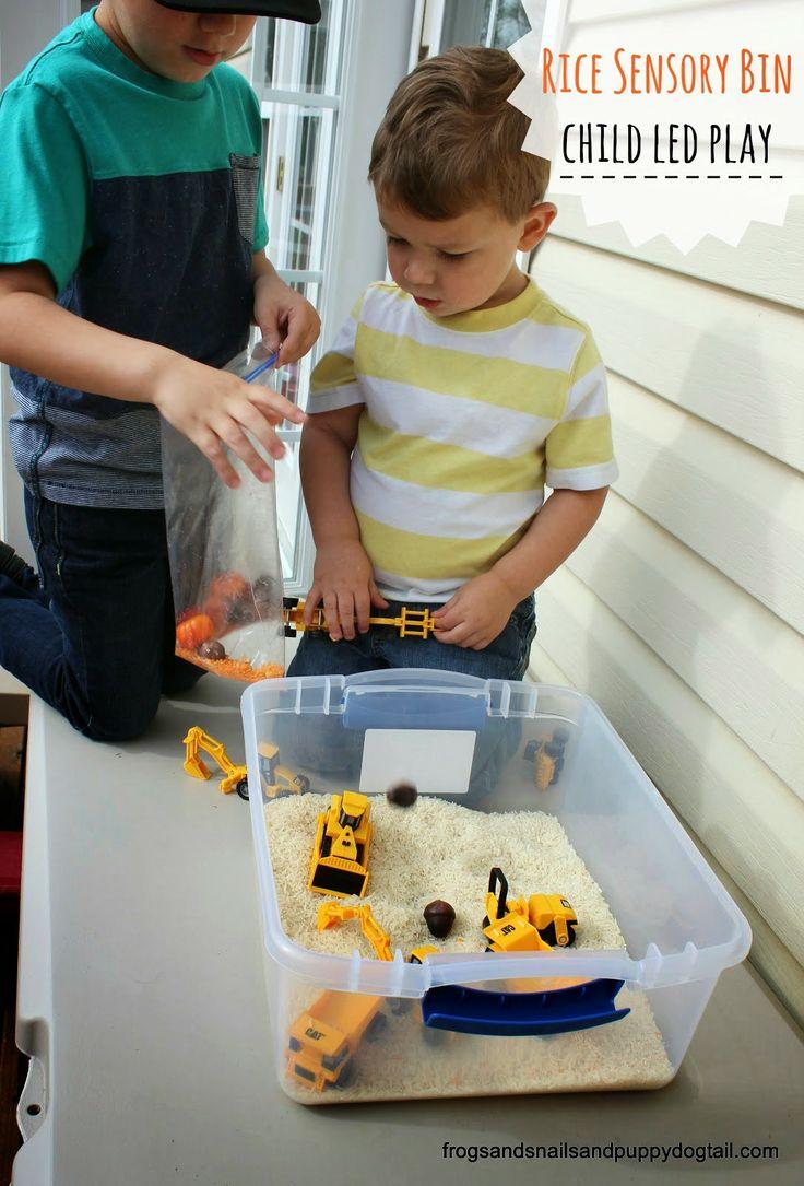 Rice Sensory Bin- child led play by FSPDT