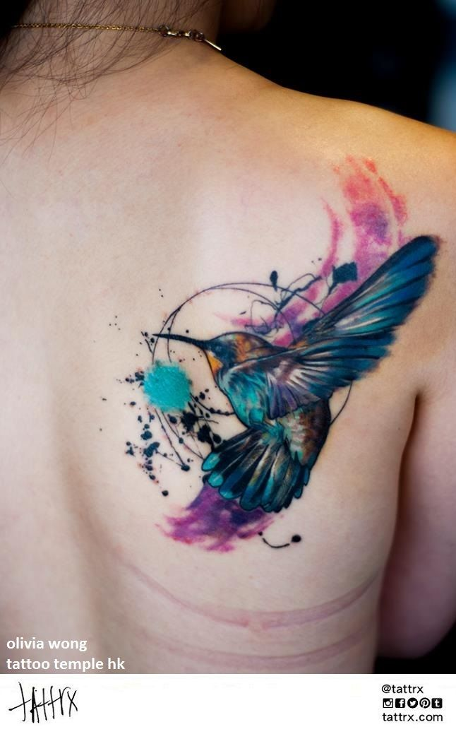 Watercolor hummingbird tattoo tattoos pinterest watercolor - Best 20 Bird Shoulder Tattoos Ideas On Pinterest Be