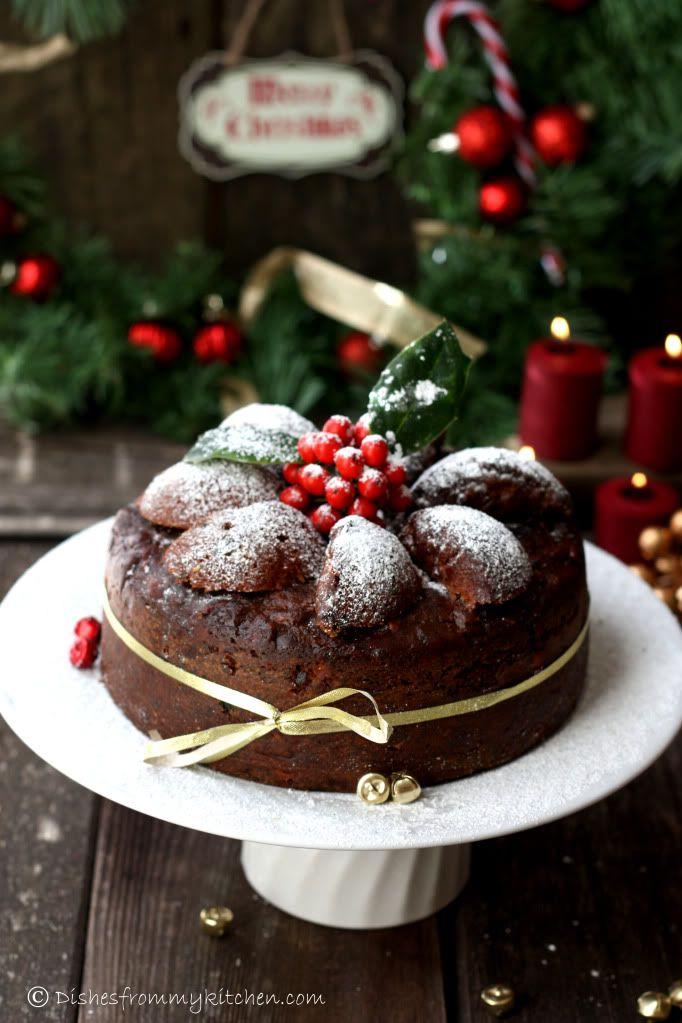 Rich Rum Christmas Fruit Cake ~ homemade recipe