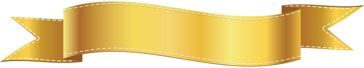 Golden Banner PNG Clip Art Image