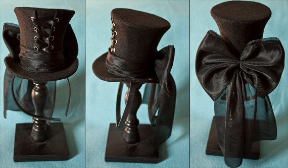 I would love to see people in top hats! - Mini corset hat! by CUNENE DESIGN