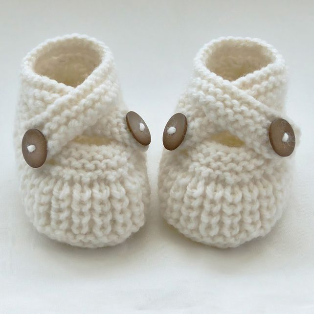 Hand Knitted Baby Shoes-Booties £5.30