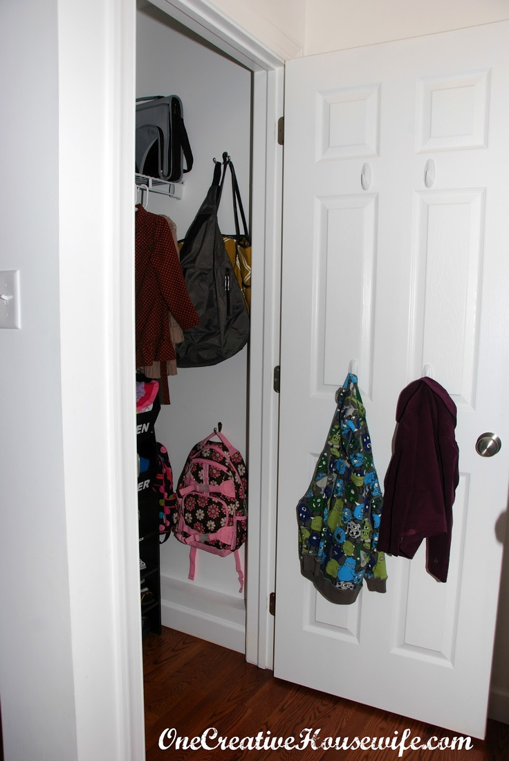 Hang Command Hooks In The Coat Closet At Kids Height