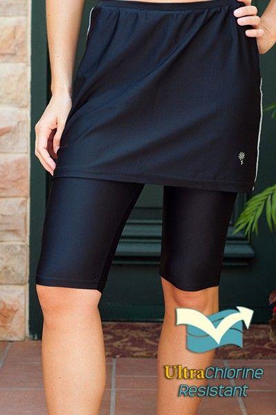 66eff54b8e3 Modest swim skirt with built-in capris