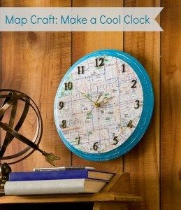 make crafts from disney maps: Crafts Ideas, Disney Maps, Maps Crafts, Cities Maps, Wood Clocks, Clocks Crafts, Disney Parks, Maps Clocks, Decor With Clocks