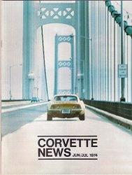 Corvette News Car Magazine June/July 1974 Wild Paint 1961 Vette Specs