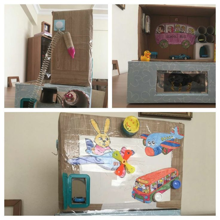 Aktiviteli kartondan oyuncak garaj