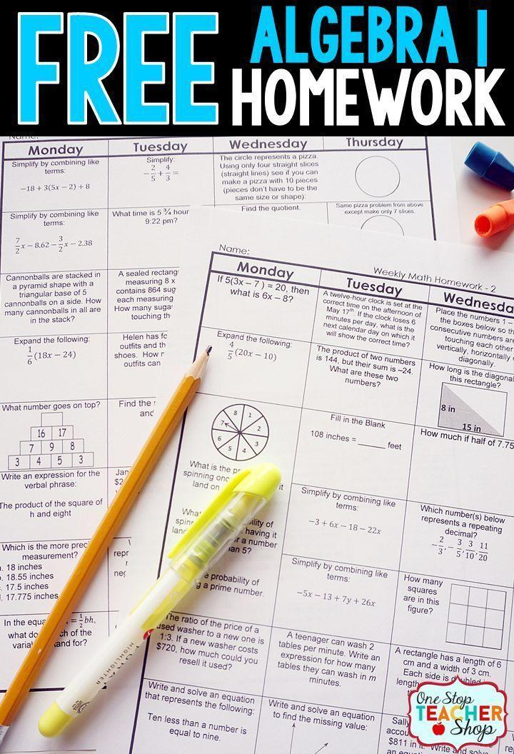 29 best algebra resources images on pinterest math teacher math algebra 1 homework free fandeluxe Choice Image
