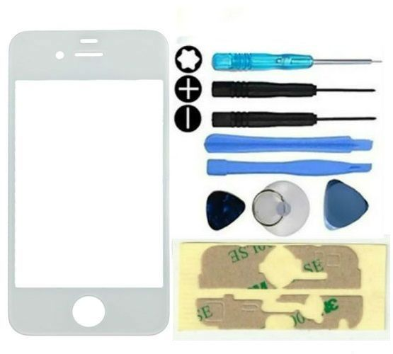 Glass lens Repair White Front Outer Screen Replacement For iPhone 4 4S Kit Tools #UnbrandedGeneric