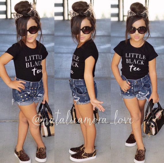 Little Black Tee Baby Shirt Phrase Quote Infant TShirt T-Shirt Top Toddler Shirt Stylish Trendy Baby Fashion Hip Baby Gift