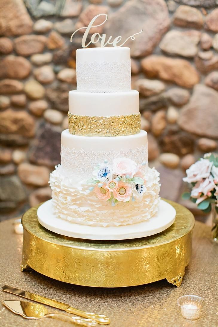 Cake Wedding Gold